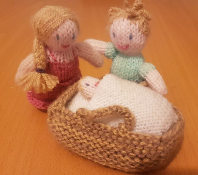 Fitting in knitting family children handmade gift