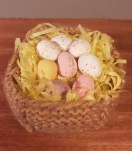Handmade Fitting in Knitting Children Easter Nest