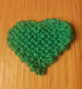Handmade Knitted Four Leaf Clover Centre Line Fitting in Knitting Children Quick Craft Ideas