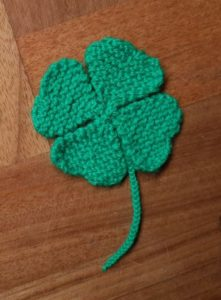 Handmade Knitted Four Leaf Clover Completed Fitting in Knitting Children Quick Craft Ideas