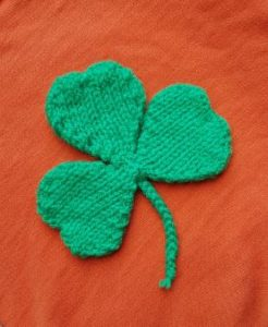 Handmade Knitted Shamrock Fitting in Knitting Children Quick Craft Ideas