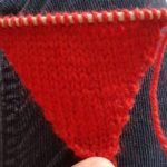 Handmade Shapes Triangle Fitting in Knitting Children Craft Ideas