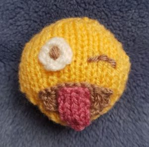 Handmade Knitted Cheeky Emoji Fitting in Knitting Children Quick Craft Ideas