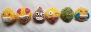 Handmade Knitted Emojis Fitting in Knitting Children Quick Craft Ideas