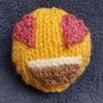Handmade Knitted In Love Emoji Fitting in Knitting Children Quick Craft Ideas