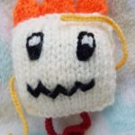 Handmade Knitted Monster Caitlin Ahoy Fitting in Knitting Children Quick Craft Ideas