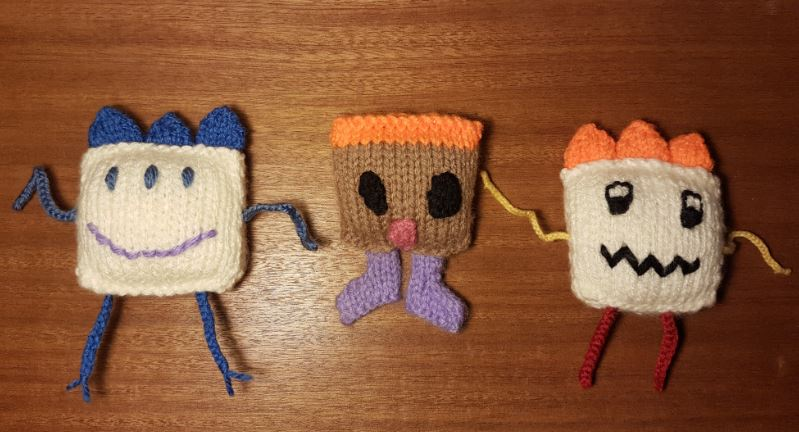 Handmade Knitted Monster Collection Fitting in Knitting Children Quick Craft Ideas