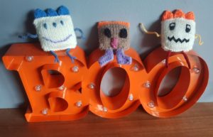 Handmade Knitted Monsters Fitting in Knitting Children Quick Craft Ideas
