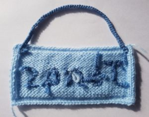 Handmade Knitted Name Plaque Stitching Fitting in Knitting Children Quick Craft Ideas