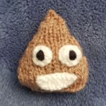 Handmade Knitted Poo Emoji Fitting in Knitting Children Quick Craft Ideas