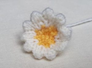 Handmade Knitted Primrose Completed Flower Fitting in Knitting Children Quick Craft Ideas