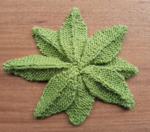 Handmade Knitted Primrose Plant Underside Fitting in Knitting Children Quick Craft Ideas