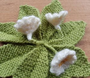 Handmade Knitted Primrose Stem Attachment to Plant Fitting in Knitting Children Quick Craft Ideas