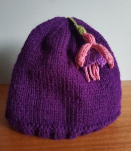 Handmade Knitted Tea Cosy with Fuchsia Fitting in Knitting Children Quick Craft Ideas