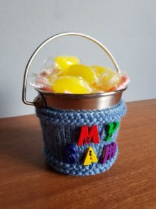 Handmade Knitted Bucket Cover 11th Anniversary Fitting in Knitting Children Quick Craft Ideas