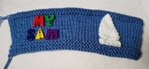 Handmade Knitted Bucket Cover Piece 11th Anniversary Gift Fitting in Knitting Children Quick Craft Ideas