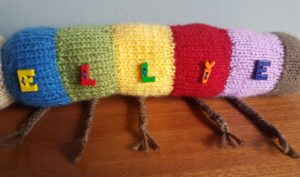 Handmade Knitted Caterpillar Side Buttons Fitting in Knitting Children Quick Craft Ideas