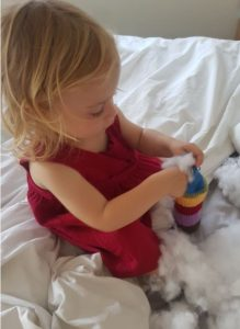 Handmade Knitted Caterpillar Stuffing with Ellie Fitting in Knitting Children Quick Craft Ideas