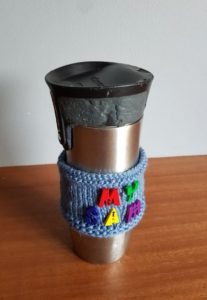Handmade Knitted Flask Cover Anniversary Gift Fitting in Knitting Children Quick Craft Ideas