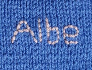 Handmade Knitted Space Scene Embroidered Lettering Fitting in Knitting Children Quick Craft Ideas