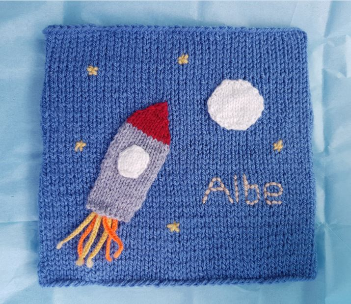Handmade Knitted Space Scene Finished Fitting in Knitting Children Quick Craft Ideas