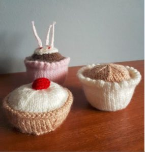 Handmade Cake Collection Fitting in Knitting Children Craft Ideas
