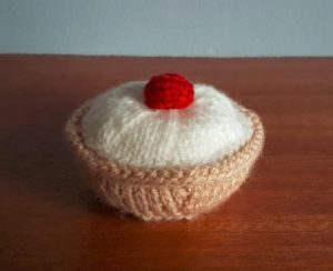 Handmade Cherry Bakewell Finished Fitting in Knitting Children Craft Ideas