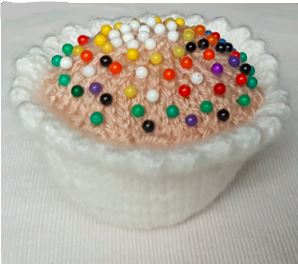 Handmade Cupcake Pin Cushion Fitting in Knitting Children Craft Ideas