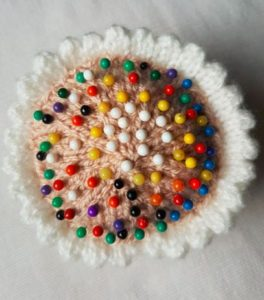 Handmade Pin Cushion Cupcake Finished Fitting in Knitting Children Craft Ideas