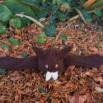 Handmade Knitted Bat Fitting in Knitting Children Craft Ideas