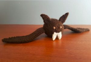 Handmade Knitted Bat Indoors Fitting in Knitting Children Craft Ideas