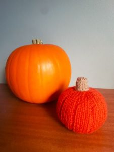 Handmade Knitted Halloween Pumpkin Blank Canvas Fitting in Knitting Children Craft Ideas