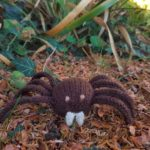 Handmade Knitted Spider Fitting in Knitting Children Craft Ideas