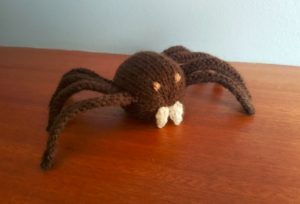 Handmade Knitted Spider Indoors Fitting in Knitting Children Craft Ideas