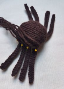 Handmade Knitted Spider Legs Pinning Fitting in Knitting Children Craft Ideas