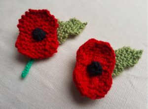 Handmade Knitted Poppies Fitting in Knitting Children Craft Ideas