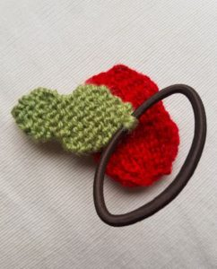 Handmade Knitted Poppy Hairband Fitting in Knitting Children Craft Ideas