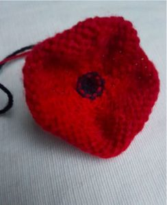 Handmade Knitted Poppy Large Inside Fitting in Knitting Children Craft Ideas