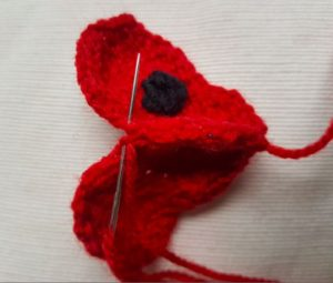 Handmade Knitted Poppy Stocking Sewing Main Piece Fitting in Knitting Children Craft Ideas
