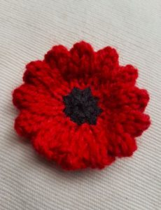 Handmade Knitted Poppy Wavy Sewn Up Fitting in Knitting Children Craft Ideas