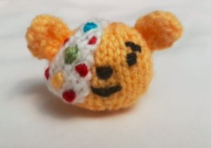 Handmade Knitted Pudsey Bear Complete Head Fitting in Knitting Children Craft Ideas