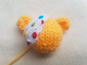 Handmade Knitted Pudsey Bear Eyepatch Sewing Fitting in Knitting Children Craft Ideas