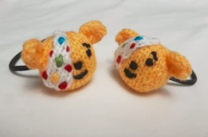 Handmade Knitted Pudsey Bear Hairband Set 2 Fitting in Knitting Children Craft Ideas