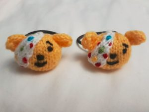 Handmade Knitted Pudsey Bear Hairband Set Fitting in Knitting Children Craft Ideas