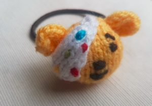Handmade Knitted Pudsey Bear Hairband Side Fitting in Knitting Children Craft Ideas
