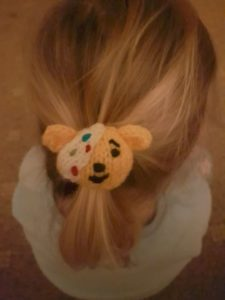 Handmade Knitted Pudsey Bear Hairband in Hair 2 Fitting in Knitting Children Craft Ideas