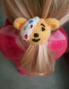 Handmade Knitted Pudsey Bear Hairband in Hair Fitting in Knitting Children Craft Ideas