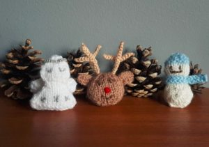 Handmade Festive Knitting Snowman Reindeer Angel Fitting in Knitting Children Craft Ideas