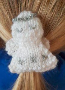 Handmade Knitted Angel Hairband Ellie Fitting in Knitting Children Craft Ideas