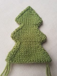 Handmade Knitted Christmas Tree Plain Fitting in Knitting Children Craft Ideas